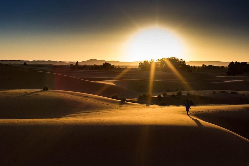 DESERT prog balade ds le Sahara coucher de soleil